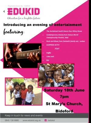A Concert For Edukid - St Mary's Church, Bideford, 18th June